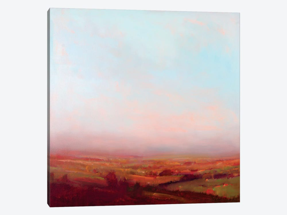 Misty Orange And Red by William McCarthy 1-piece Art Print
