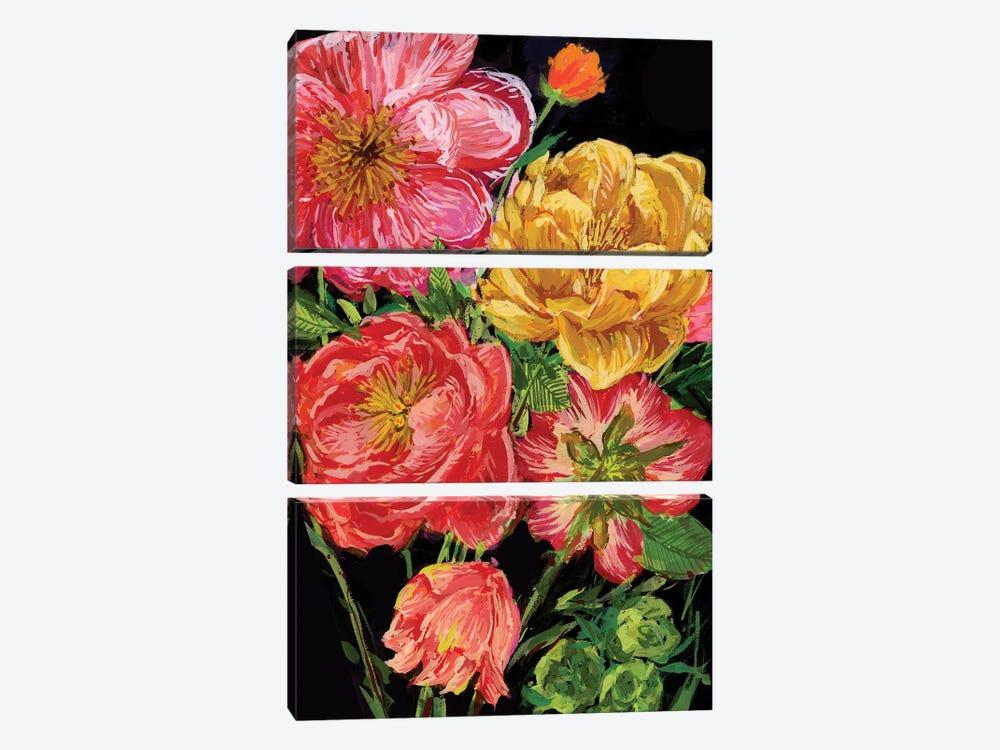 Vintage Bouquet IV by Melissa Wang 3-piece Canvas Art Print