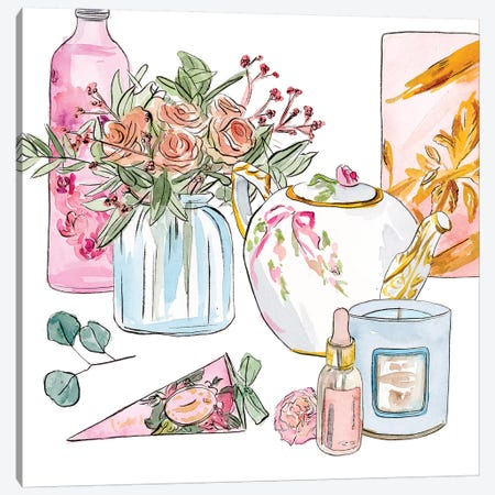 Morning Glamour II Canvas Print #WNG1028} by Melissa Wang Canvas Artwork