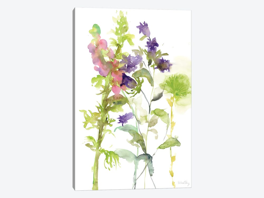 Watercolor Floral Study I 1-piece Canvas Art