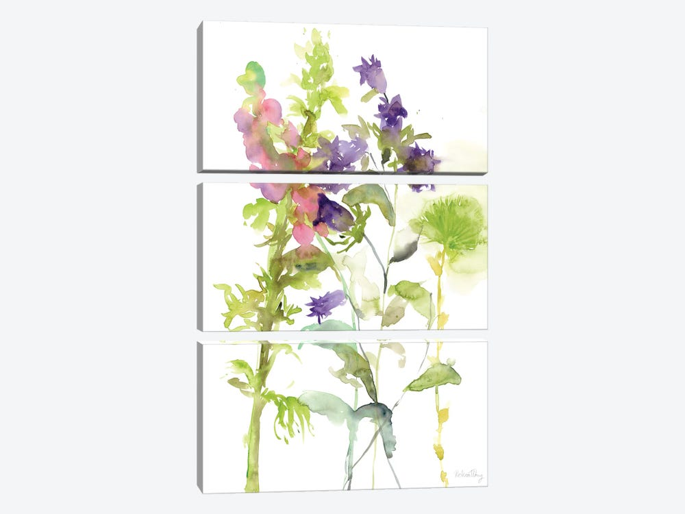 Watercolor Floral Study I by Melissa Wang 3-piece Canvas Art