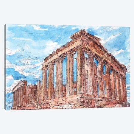 Secret Greece I Canvas Print #WNG1035} by Melissa Wang Canvas Art