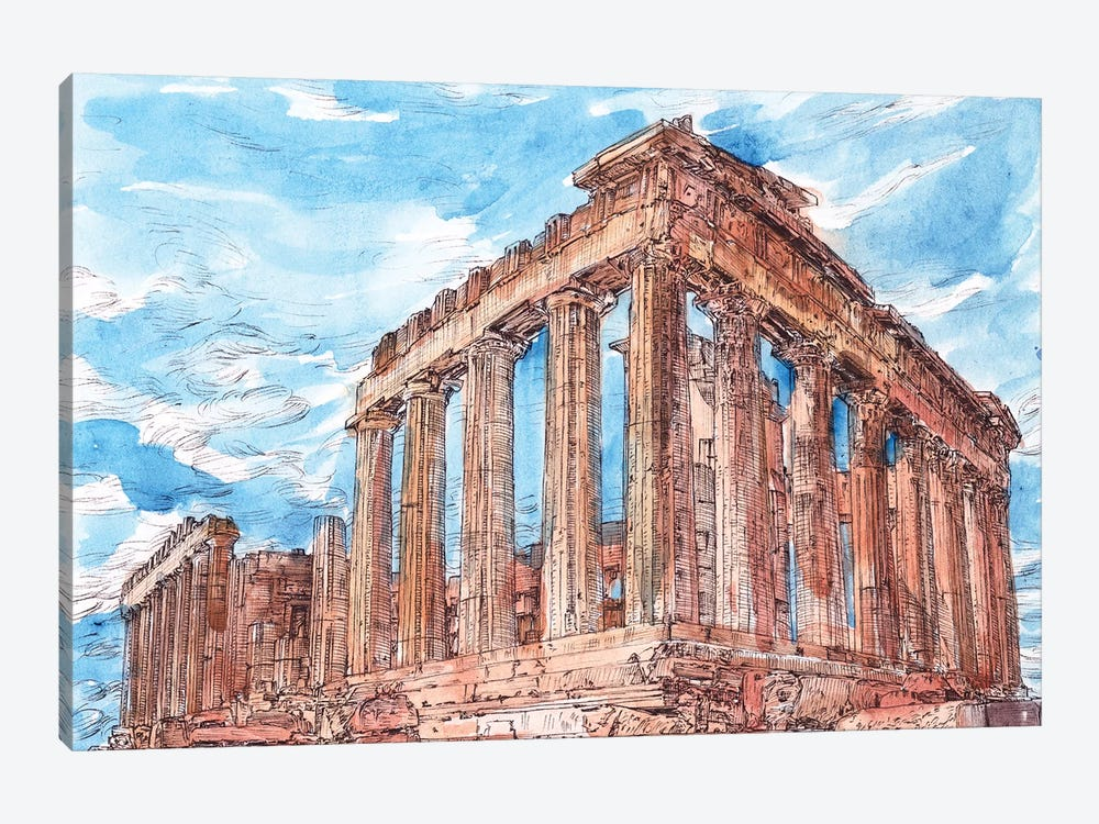 Secret Greece I by Melissa Wang 1-piece Canvas Art Print