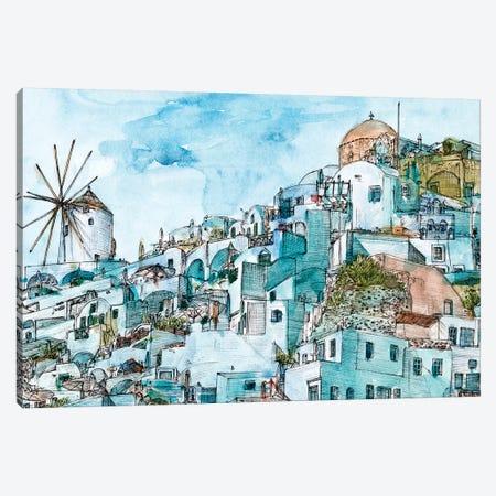 Secret Greece II 3-Piece Canvas #WNG1036} by Melissa Wang Canvas Art