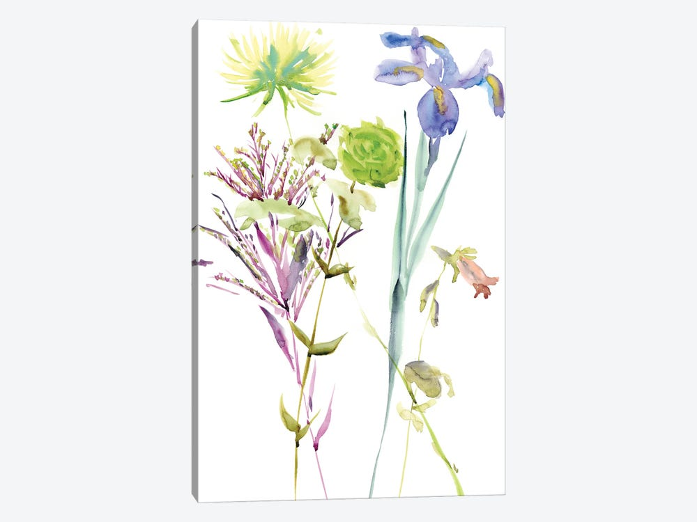Watercolor Floral Study II by Melissa Wang 1-piece Canvas Print