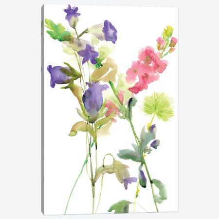 Watercolor Floral Study IV Canvas Print #WNG105} by Melissa Wang Canvas Wall Art