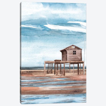 Along the Shoreline I Canvas Print #WNG1065} by Melissa Wang Art Print
