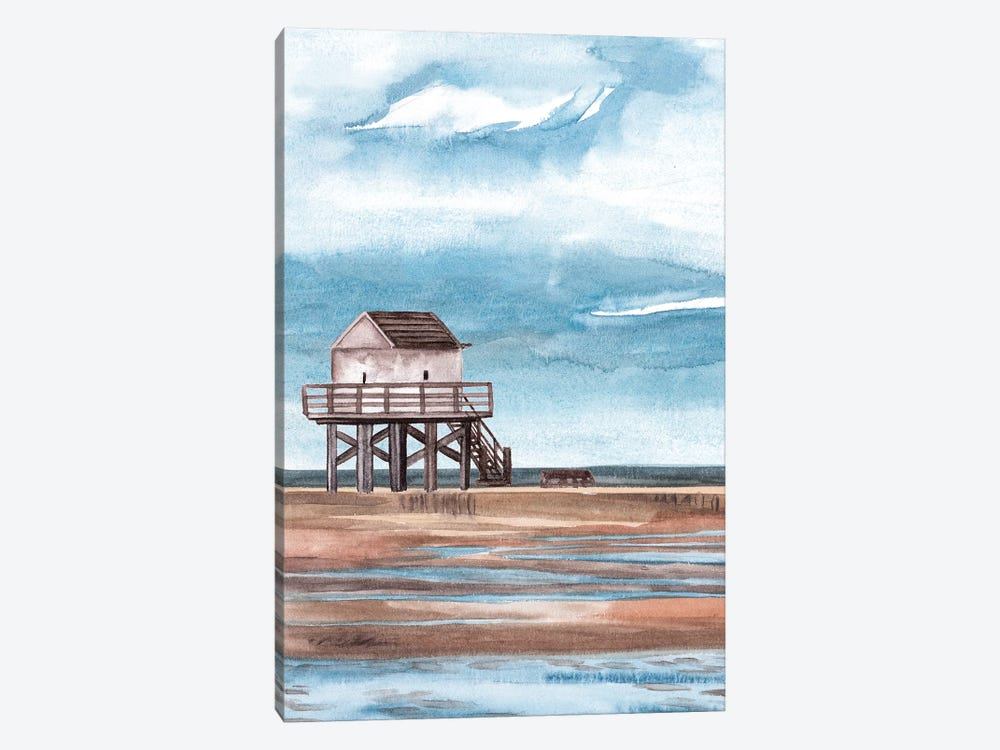 Along the Shoreline II by Melissa Wang 1-piece Canvas Art Print