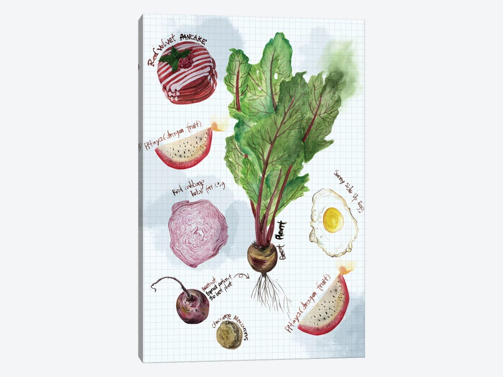 Food Sketches II by Melissa Wang 1-piece Canvas Art Print