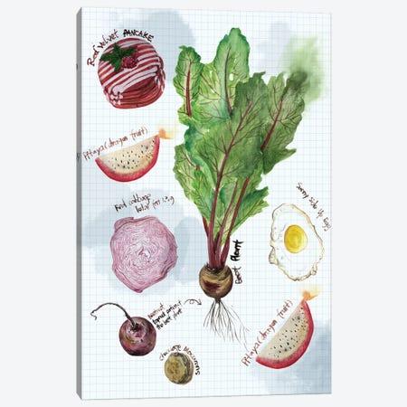 Food Sketches II Canvas Print #WNG10} by Melissa Wang Canvas Art