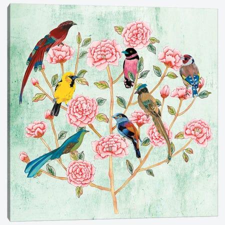 Minty Chinoiserie I Canvas Print #WNG1123} by Melissa Wang Canvas Art Print