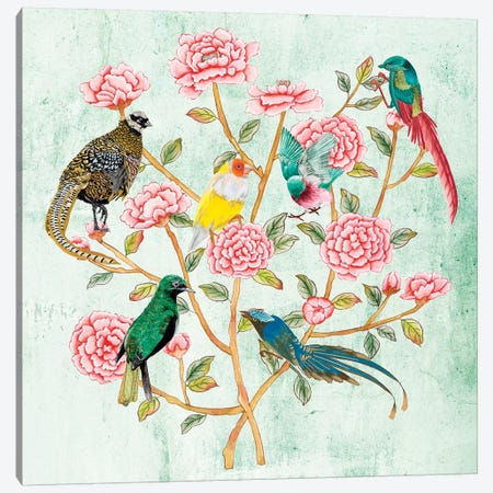 Minty Chinoiserie II Canvas Print #WNG1124} by Melissa Wang Canvas Artwork