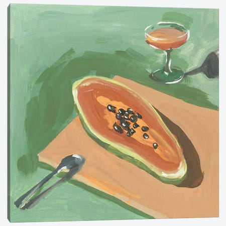Still Life with Papaya I Canvas Print #WNG1156} by Melissa Wang Canvas Print