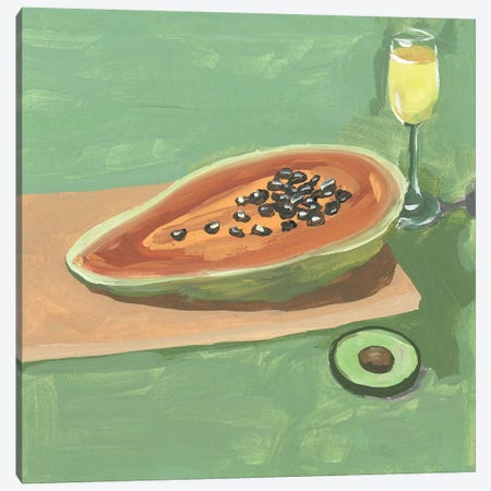 Still Life with Papaya II Canvas Print #WNG1157} by Melissa Wang Art Print