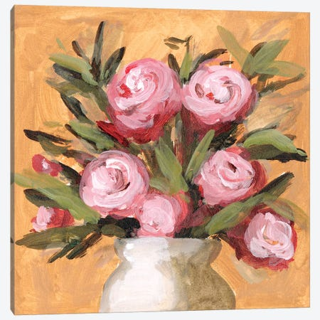 Vase & Roses I Canvas Print #WNG1169} by Melissa Wang Art Print