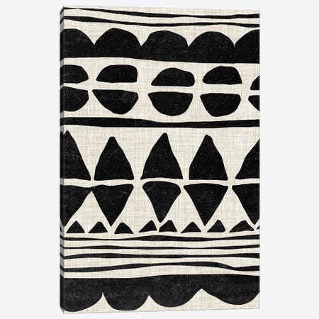 Monochrome Quilt I Canvas Print #WNG1175} by Melissa Wang Art Print