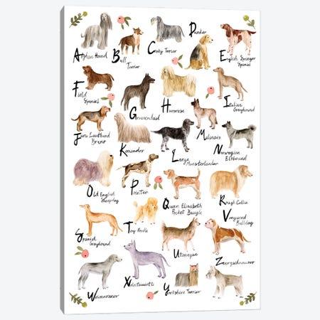 Dog Alphabet Canvas Print #WNG1194} by Melissa Wang Canvas Print