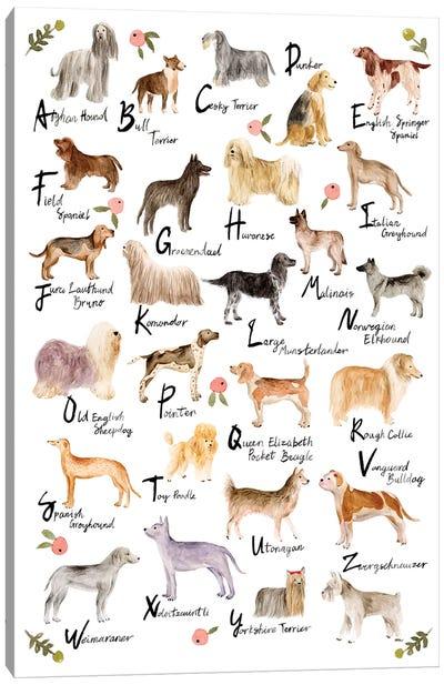 Dog Alphabet Canvas Art Print