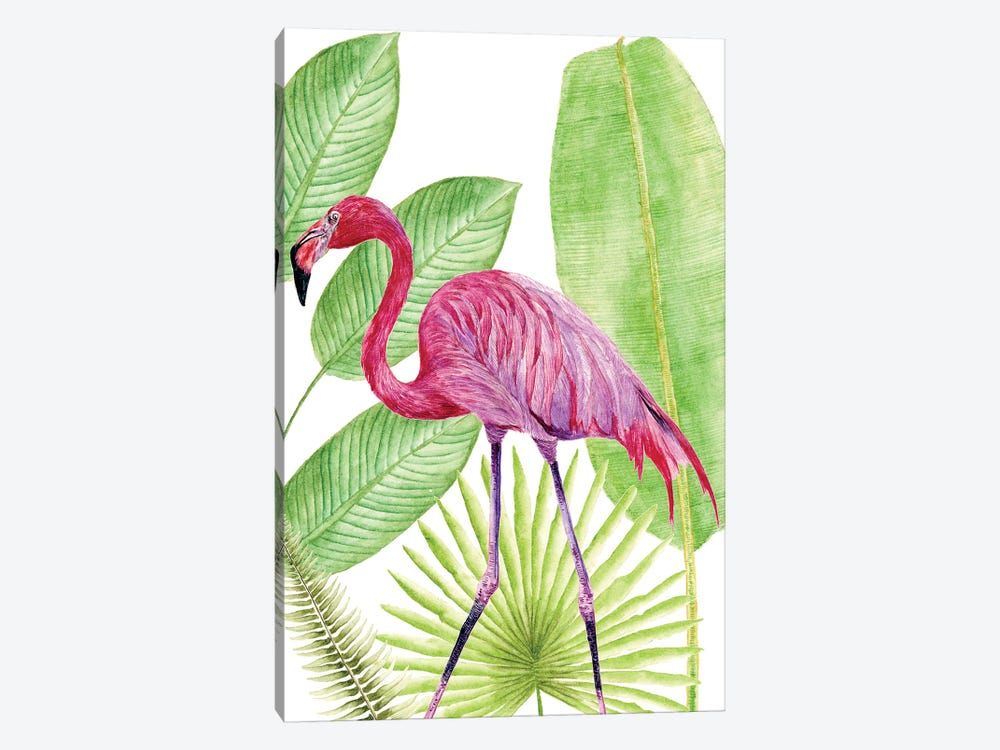 Tropical Flamingo I by Melissa Wang 1-piece Canvas Artwork