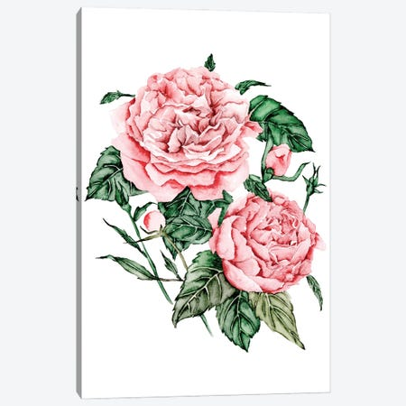 Roses are Red I Canvas Print #WNG1215} by Melissa Wang Canvas Art