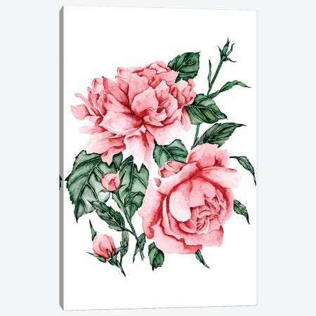 Roses are Red II Canvas Print #WNG1216} by Melissa Wang Canvas Wall Art