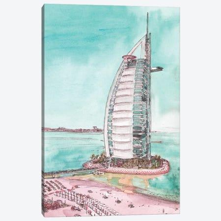 Day Landing Dubai I Canvas Print #WNG1225} by Melissa Wang Canvas Print