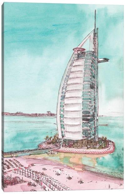 Day Landing Dubai I Canvas Art Print