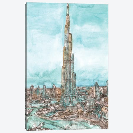 Day Landing Dubai II 3-Piece Canvas #WNG1226} by Melissa Wang Art Print