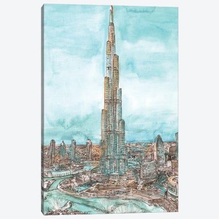 Day Landing Dubai II Canvas Print #WNG1226} by Melissa Wang Art Print