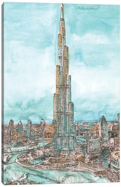 Day Landing Dubai II Canvas Art Print