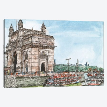 Dreaming of India I 3-Piece Canvas #WNG1227} by Melissa Wang Art Print