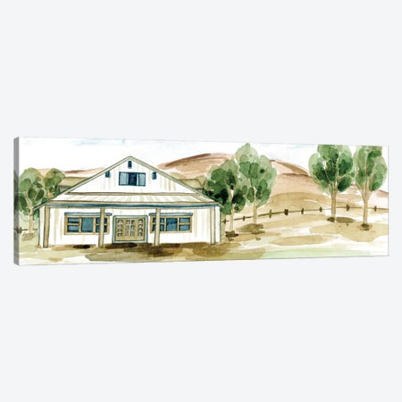 Farmhouse Landscape I Canvas Print #WNG1229} by Melissa Wang Canvas Artwork