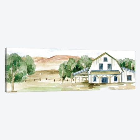 Farmhouse Landscape II Canvas Print #WNG1230} by Melissa Wang Canvas Art Print