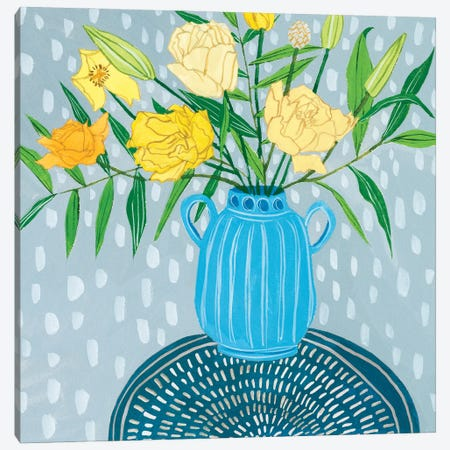 Flowers in Vase I Canvas Print #WNG1235} by Melissa Wang Canvas Art