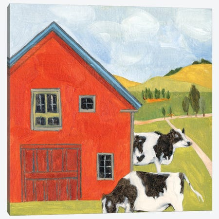 House in the Field I Canvas Print #WNG1239} by Melissa Wang Art Print