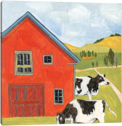 House in the Field I Canvas Art Print