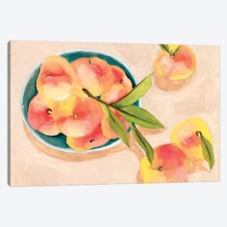 Saturn Peaches I Canvas Print #WNG1245} by Melissa Wang Art Print