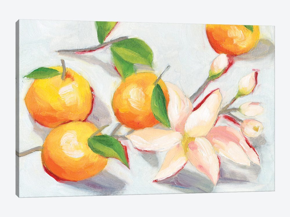 Tangerine Blossoms I by Melissa Wang 1-piece Canvas Wall Art