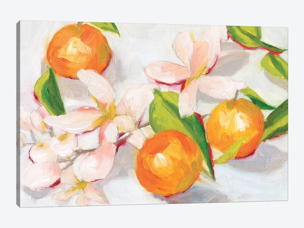 Tangerine Blossoms II by Melissa Wang 1-piece Art Print