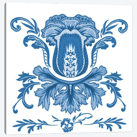 Indigo Chintz III Canvas Print #WNG1257} by Melissa Wang Canvas Art