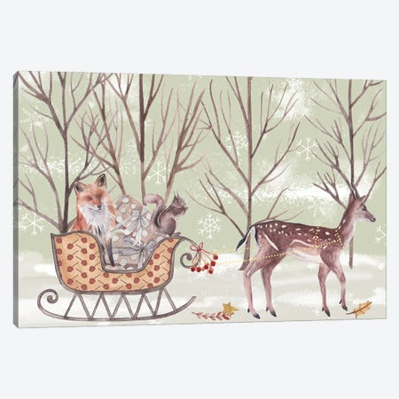 Christmas Time I Canvas Print #WNG1266} by Melissa Wang Canvas Print