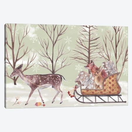 Christmas Time II 3-Piece Canvas #WNG1267} by Melissa Wang Art Print