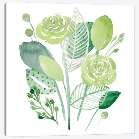 Green Portrait I Canvas Print #WNG1278} by Melissa Wang Art Print
