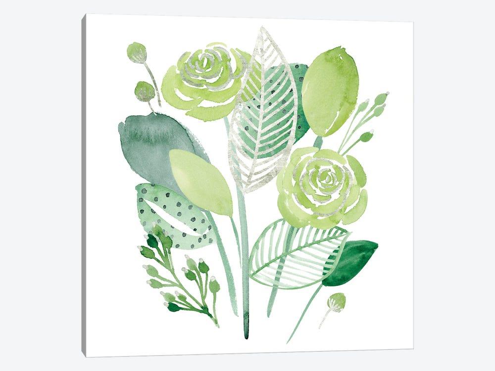 Green Portrait I by Melissa Wang 1-piece Canvas Art Print