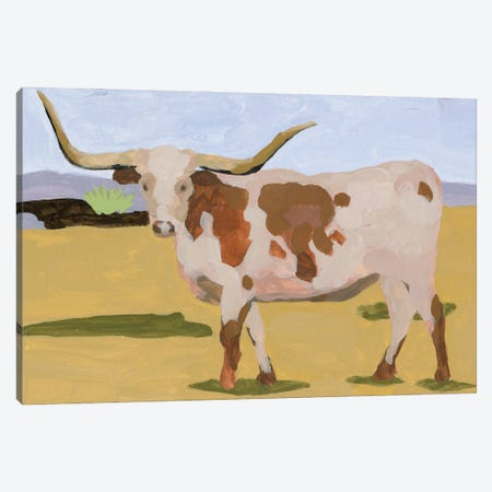 Longhorn Cattle I Canvas Print #WNG1280} by Melissa Wang Canvas Art