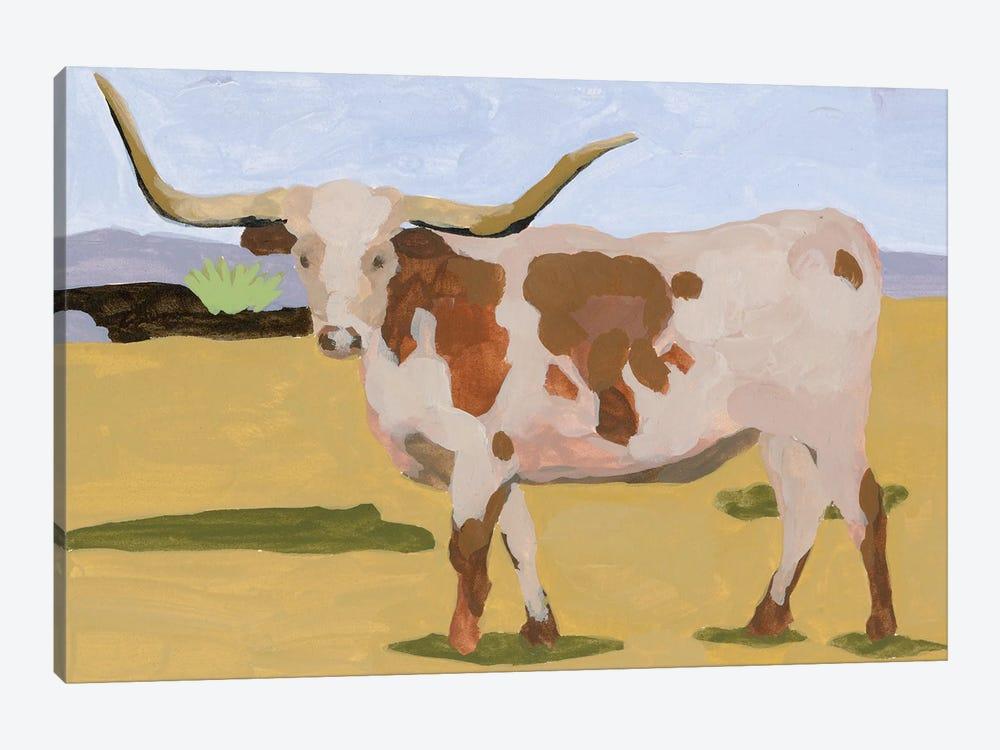Longhorn Cattle I by Melissa Wang 1-piece Canvas Art