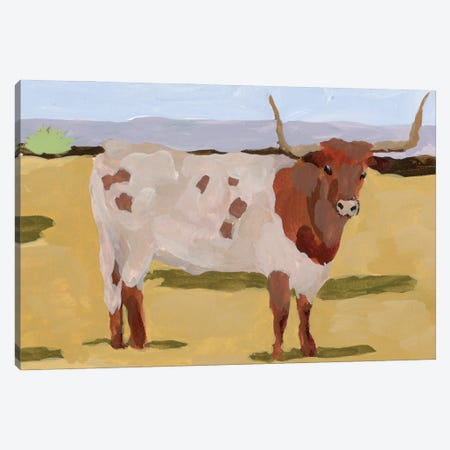 Longhorn Cattle II Canvas Print #WNG1281} by Melissa Wang Canvas Wall Art