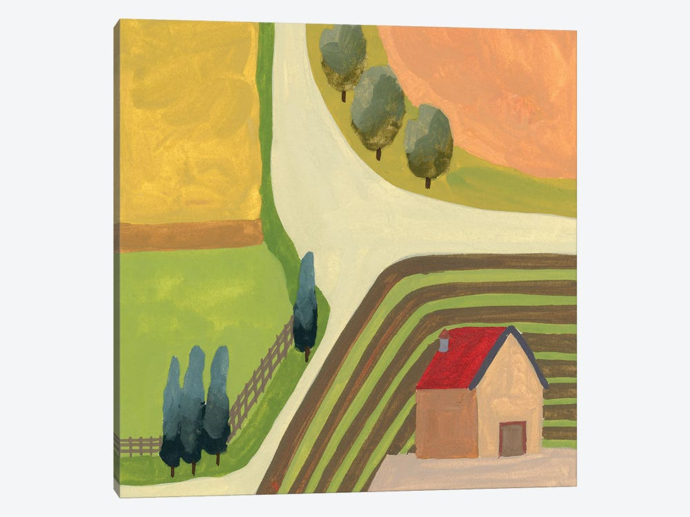 The Hill Village IV by Melissa Wang 1-piece Canvas Artwork