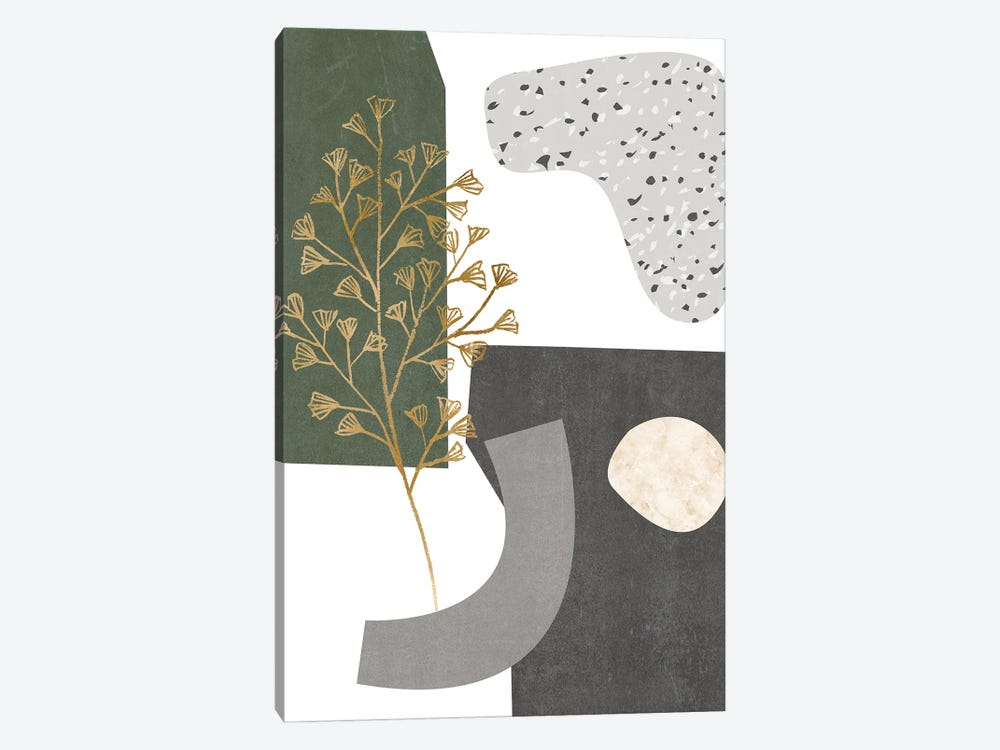 Gold Ginkgo II by Melissa Wang 1-piece Art Print