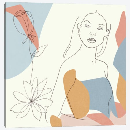 Floral Fantasies III Canvas Print #WNG1358} by Melissa Wang Canvas Artwork